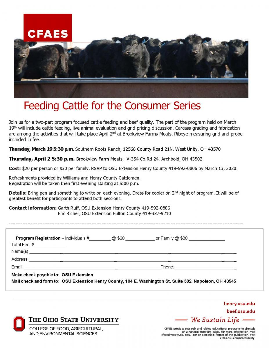 Feeding Cattle for the Consumer